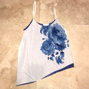 INC asymmetrical tank with adjustable straps